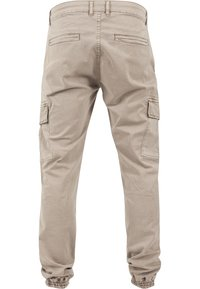 Urban Classics - WASHED CARGO  - Cargo trousers - sand - 1
