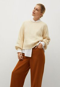 Violeta by Mango - TEJAS - Trousers - brown - 3