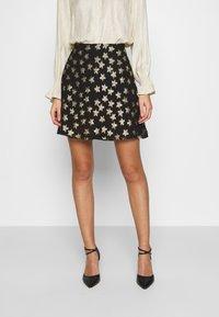 Fabienne Chapot - LOT SKIRT - Mini skirt - black/gold - 0