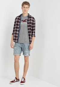 Hollister Co. - ICONIC SOLIDS TEXTURES  - T-shirt med print - light grey - 1