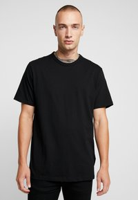 Topman - 7 PACK - T-shirt basique - black/white/light grey melange