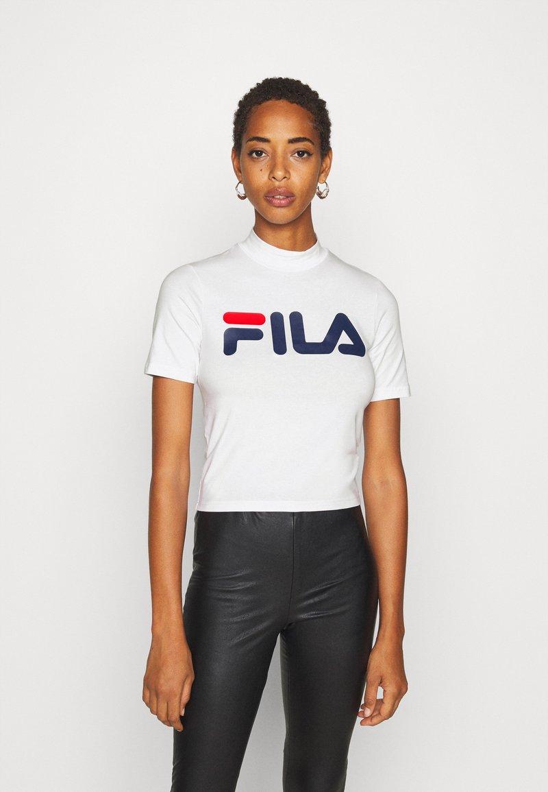 Fila Tall - EVERY TURTLE TEE - T-shirt print - bright white