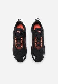 Puma - MINIMA  - Neutral running shoes - black/white/energy peach - 3