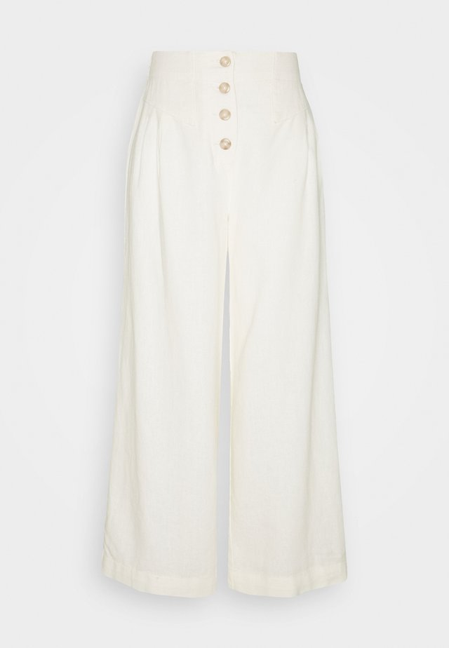 TALL BUTTON  - Broek - cream