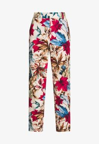 Pedro del Hierro - FLORAL PRINT TROUSER - Trousers - brown/print - 5