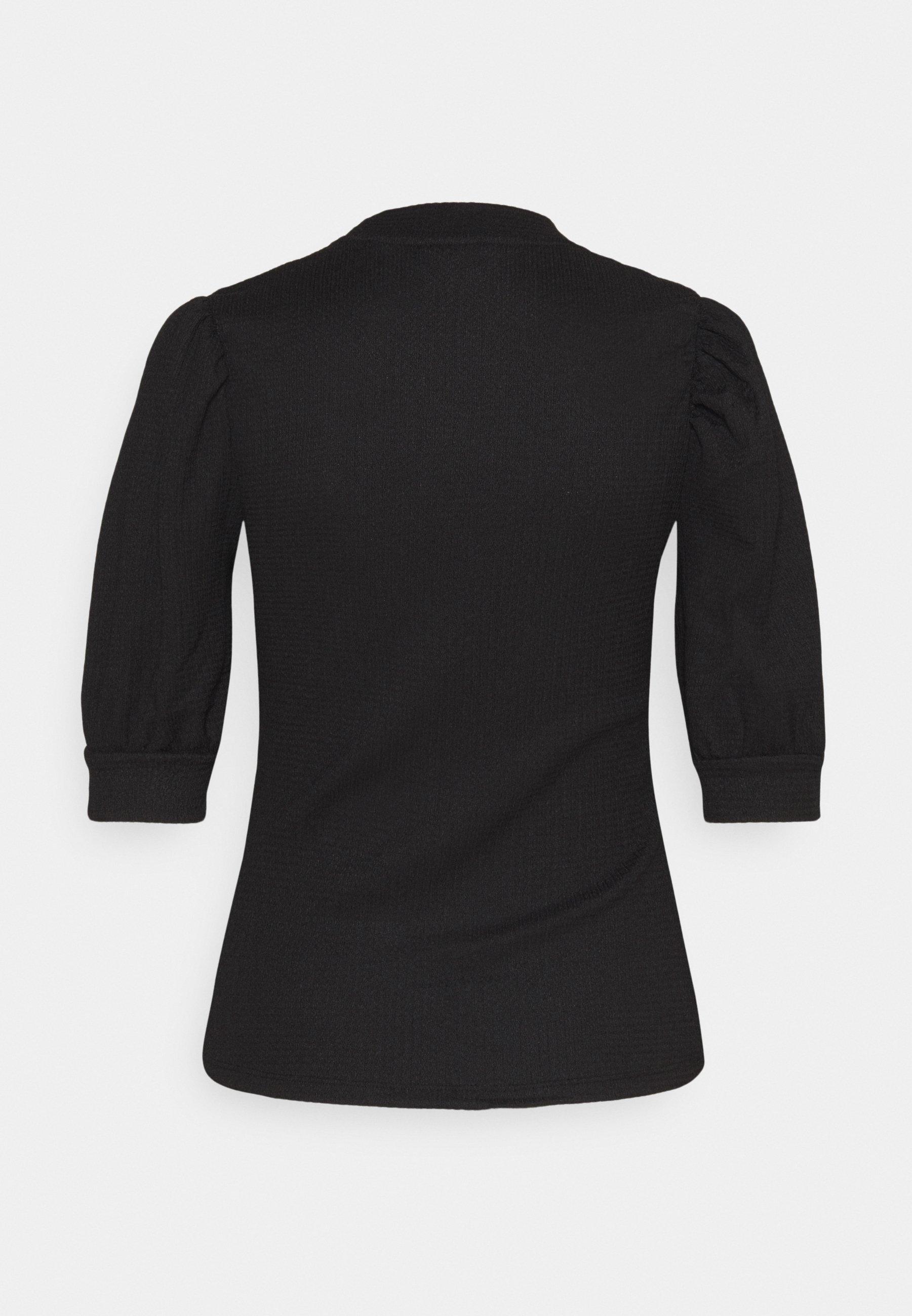 Noisy May Nmjessica Sleeve Puff Top - T-shirts Black/svart