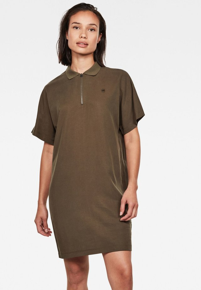 JOOSA - Shirt dress - dk smoke green