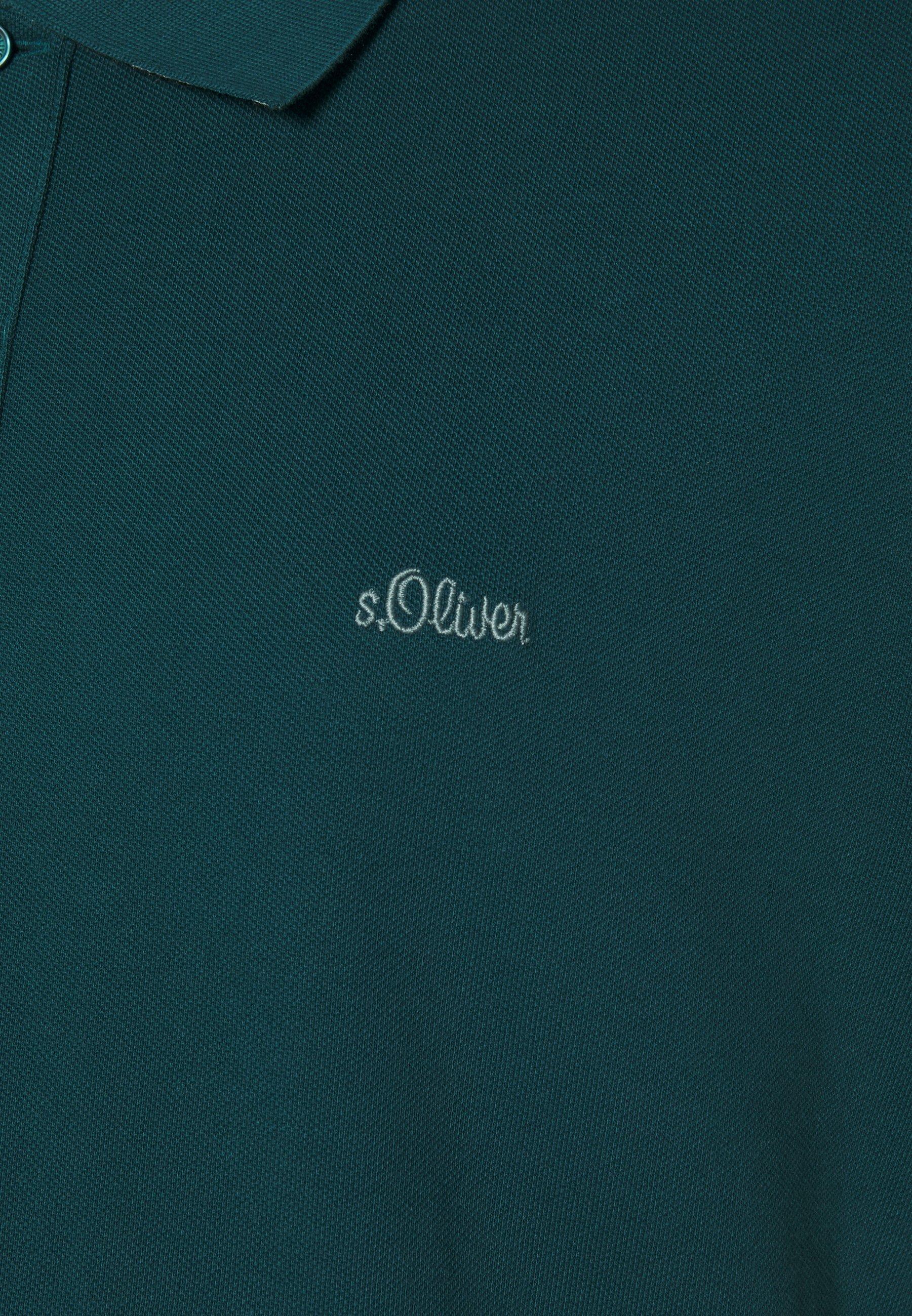 s.Oliver KURZARM - Polo shirt - green JJcXC