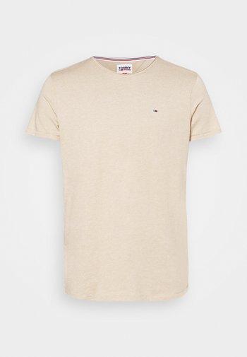 SLIM JASPE C NECK - Basic T-shirt - smooth stone heather