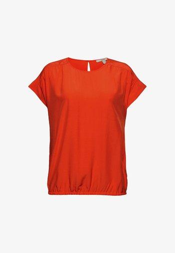 Blouse - orange red
