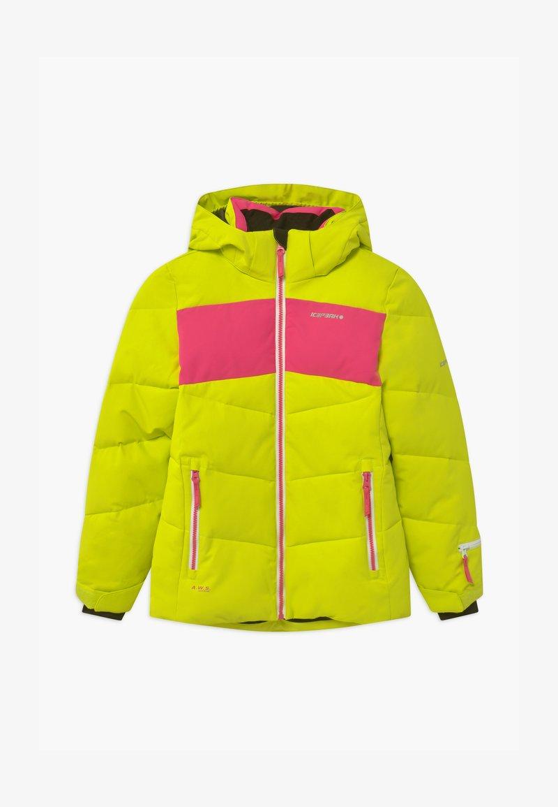 Icepeak - LAGES UNISEX - Snowboard jacket - aloe