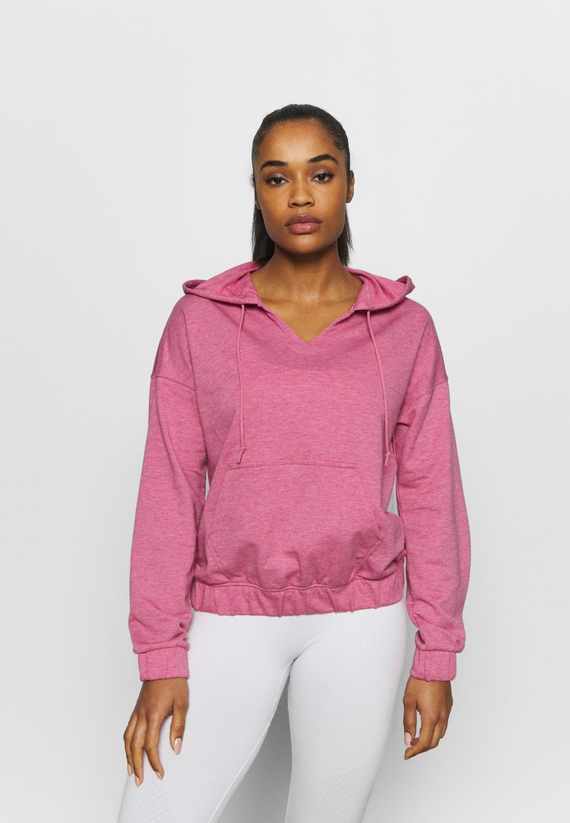 Nike Performance - CORE COLLECTION COVERUP - Jersey con capucha - desert berry/heather/lt arctic pink