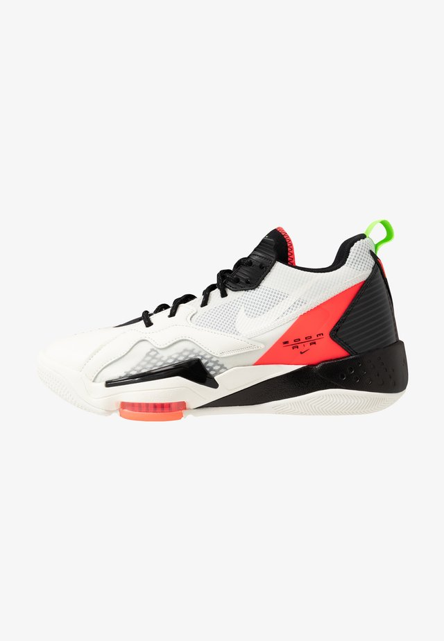 ZOOM '92 - Sneakersy wysokie - white/flash crimson/black/sail/electric green/hyper violet