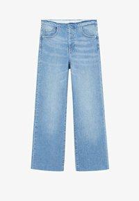 Mango - FRAYED - Flared Jeans - medium blue - 0