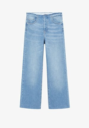 FRAYED - Flared Jeans - medium blue
