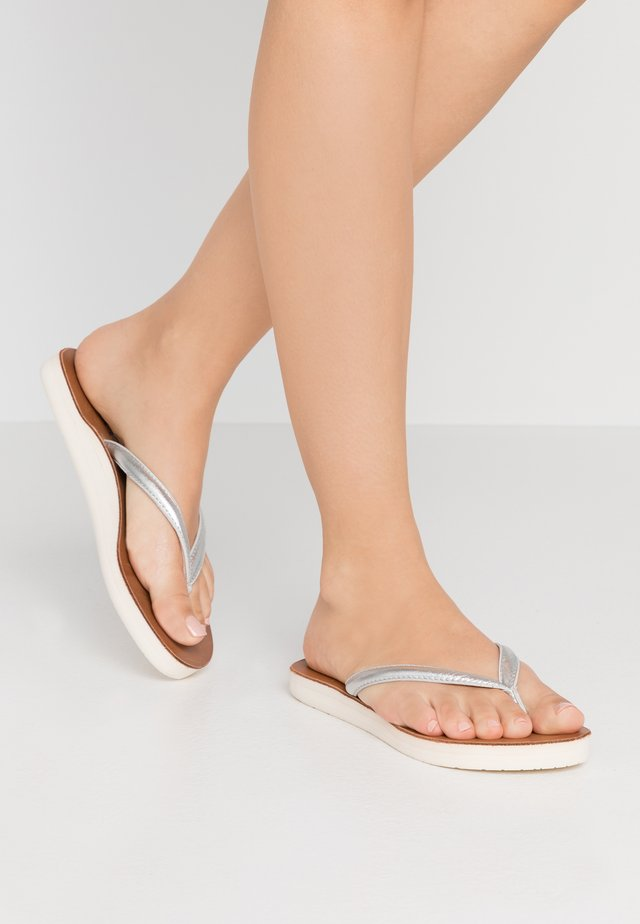 YUBA - Sandaler m/ tåsplit - silver