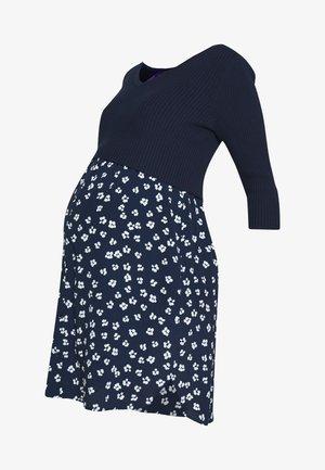 AMY BODICE NURSING DRESS 2IN1 - Jerseyjurk - navyflor