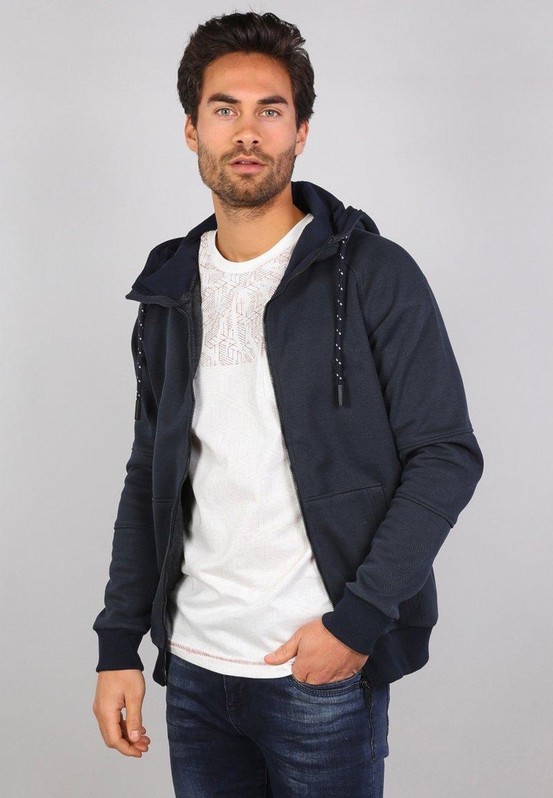 Gabbiano - Zip-up sweatshirt - navy