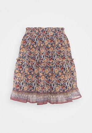 VMBELLA FRILL SKIRT  - Mini skirt - ombre blue