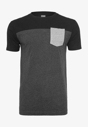 Print T-shirt - grey/black