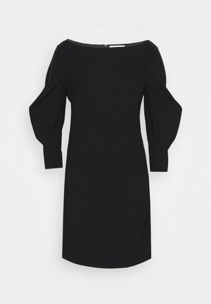 FUSCHIA DRAPEY DRESS - Pouzdrové šaty - black