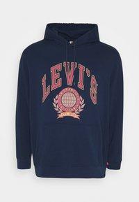 Levi's® Plus - T3 BIG GRAPHIC HOODIE - Mikina skapucí - dark blue - 0