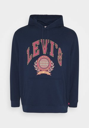 T3 BIG GRAPHIC HOODIE - Luvtröja - dark blue