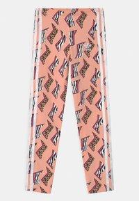 adidas Originals - ANIMAL PRINT  - Leggings - glow pink/multicolor/white - 0