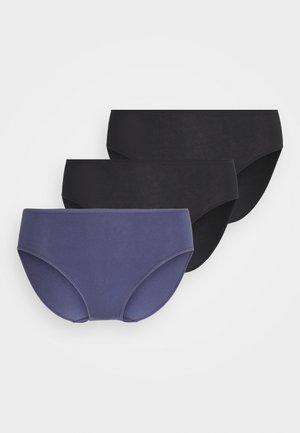 3 PACK - Trusser - black/blue