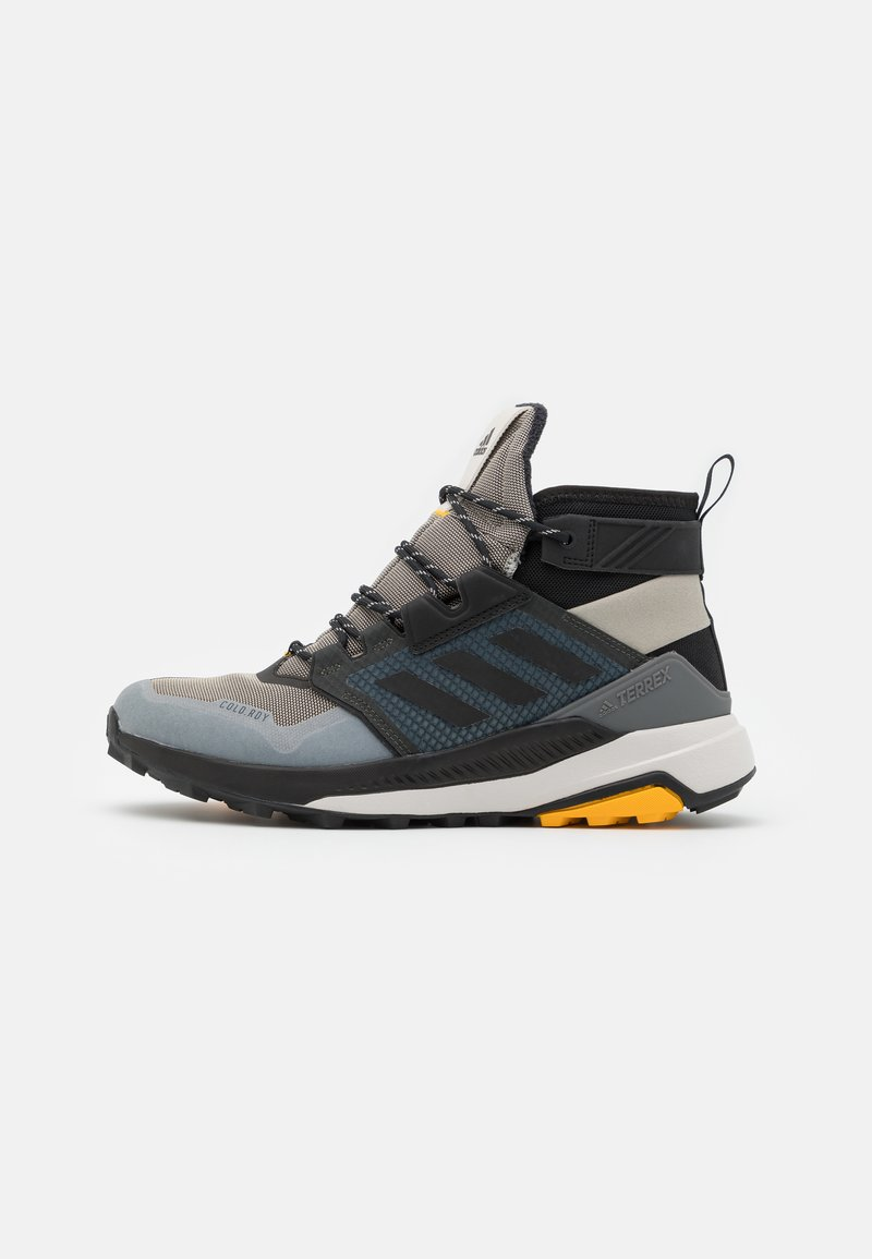 adidas Performance - adidas TERREX TRAILMAKER MID COLD.RDY WANDERSCHUHE - Trekingové boty - metallic grey/clear black/legend earth