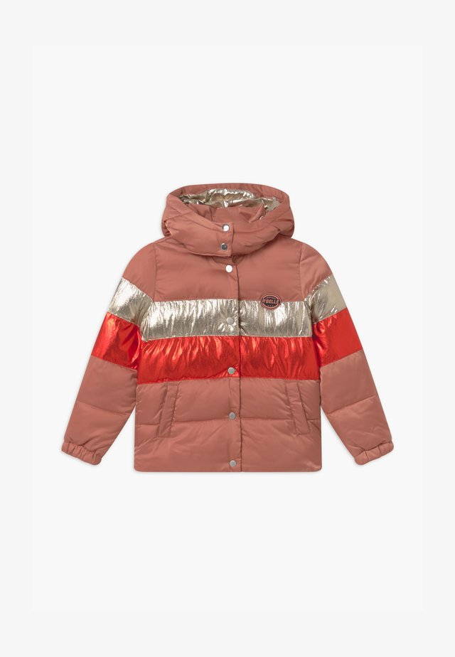 COLOUR-BLOCK PUFFER - Veste d'hiver - pink/red/silver
