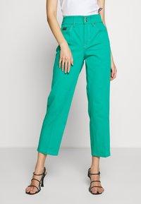 Versace Jeans Couture - LADY TROUSER - Džíny Straight Fit - pure mint - 0