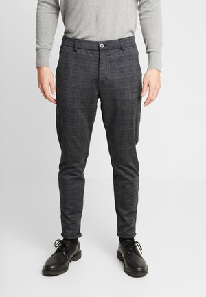 CHECKED PANTS - Chino kalhoty - black