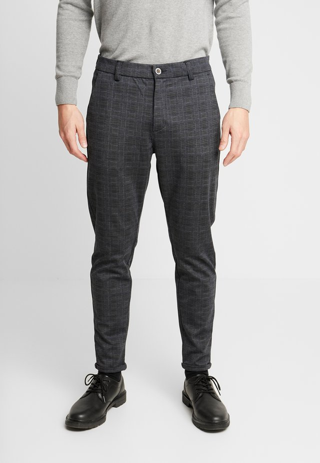 CHECKED PANTS - Chino - black