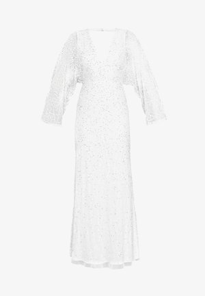 ALL OVER EMBELLISHED MAXI DRESS - Robe de cocktail - ivory/silver