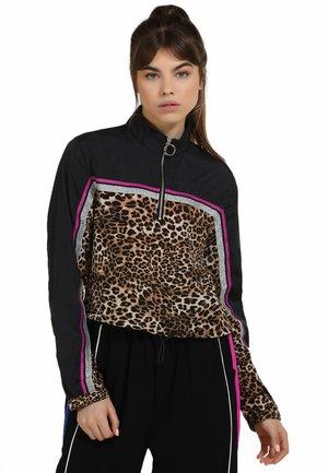 Light jacket - schwarz beige leo