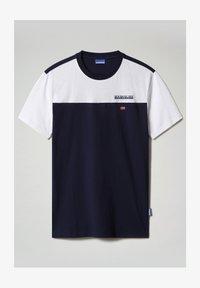 Napapijri - S-ICE COLOUR BLOCK - Print T-shirt - medieval blue - 4