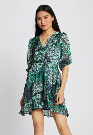WITH ABSTRACT PRINT - Day dress - dark blue