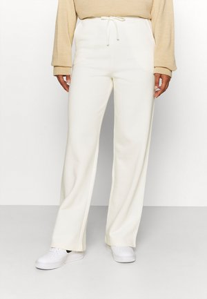 STRAIGHT PANTS - Tracksuit bottoms - off white