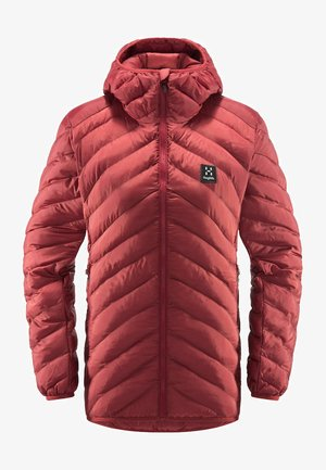 SÄRNA MIMIC HOOD - Winter jacket - brick red