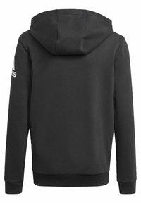 adidas Performance - LOGO FULL-ZIP HOODIE - Zip-up hoodie - black - 1