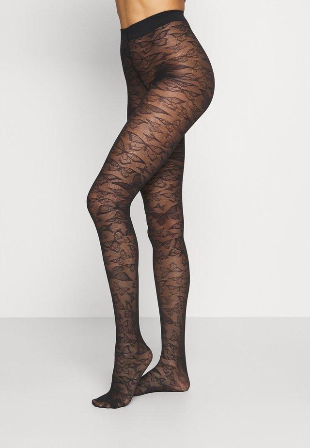 KRISTINE BUTTERFLY - Tights - black