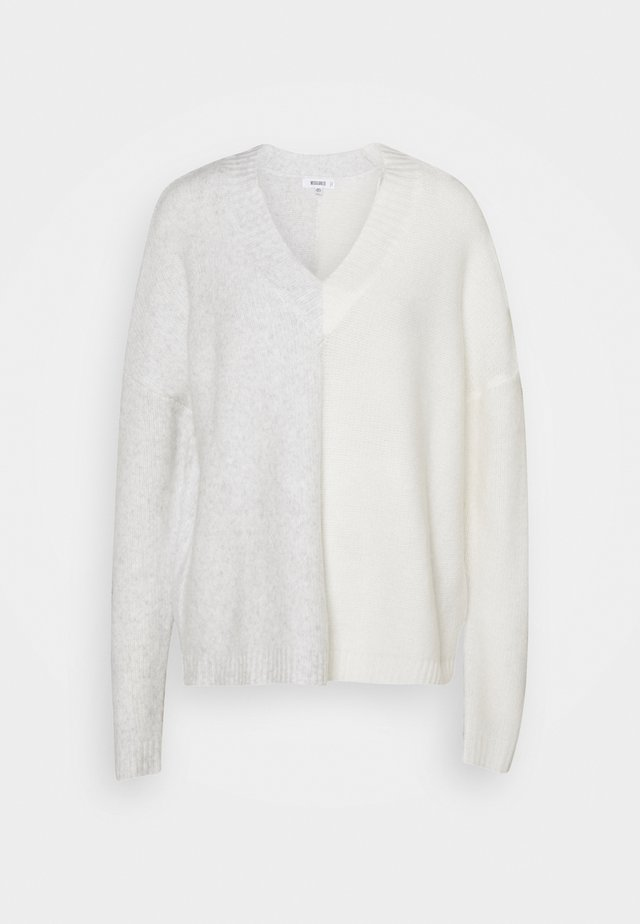 SPLICED V NECK JUMPER - Sweter - grey