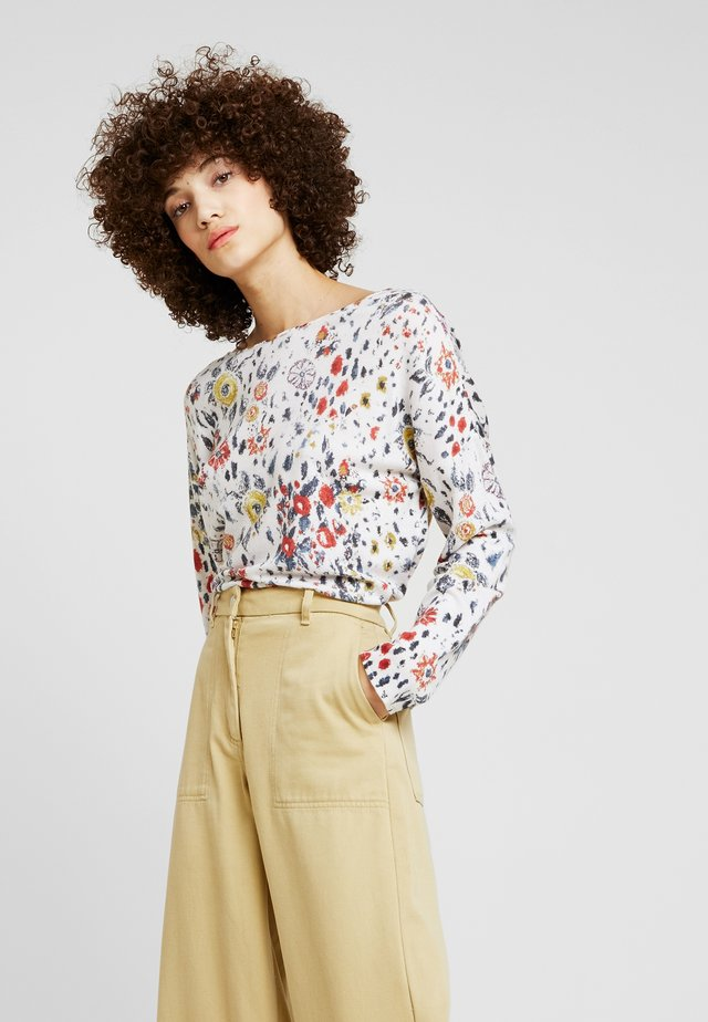 PULLOVER FLORAL PRINT - Neule - off-white