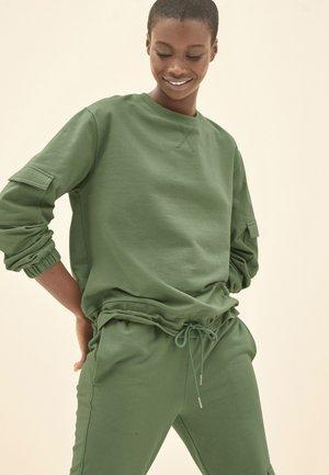 POCKET DETAIL - Sweatshirt - khaki