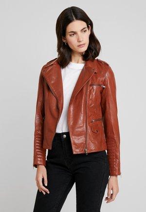 CUBA - Leather jacket - fauve