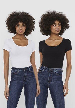 2 PACK - T-shirt - bas - bright white 2