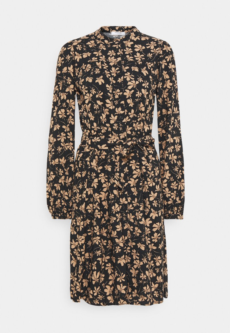 Moss Copenhagen - CALIA DRESS - Skjortekjole - black