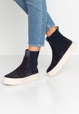 MARIE - Platform ankle boots - dark blue