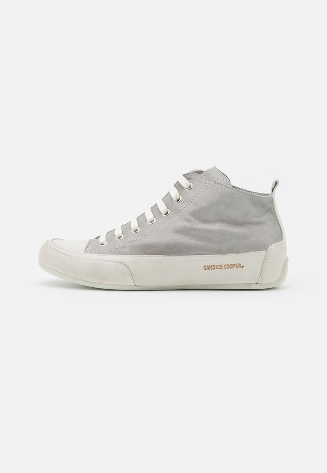 MID - High-top trainers - libra grigio/panna